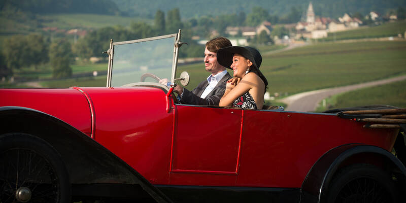 Bugatti in de wijngaarden