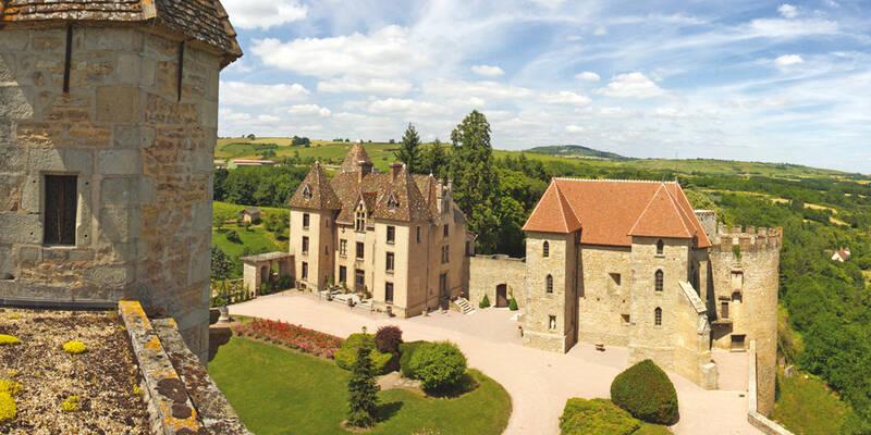 Luchtfoto – Het kasteel van Couches