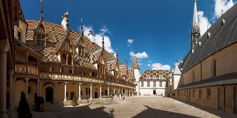 Binnenplaats van het Hôtel-Dieu