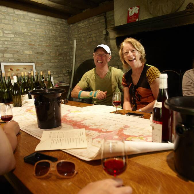 Bij een wijnmaker